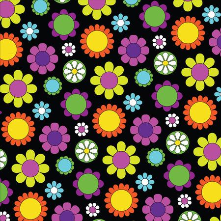 mod flower pattern