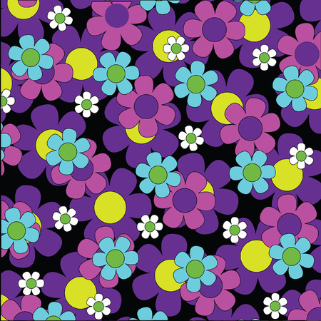 overlapping: overlapping flowers