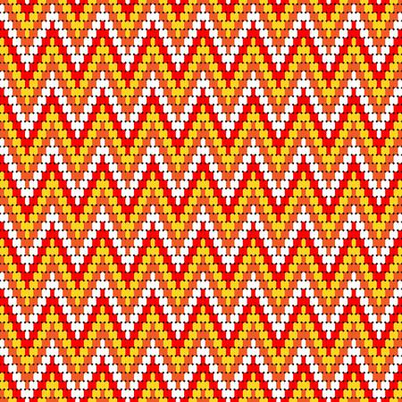 hopi: red yellow chevron