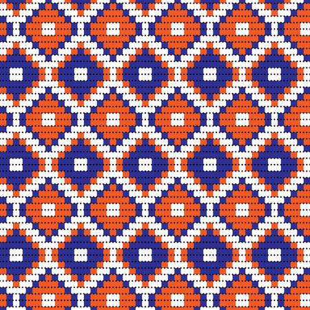 blue orange bead geometric