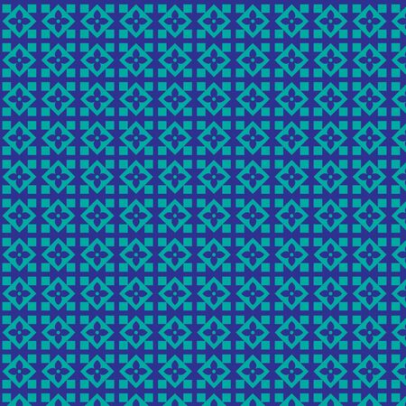 tillable: seamless blue geometric pattern Stock Photo