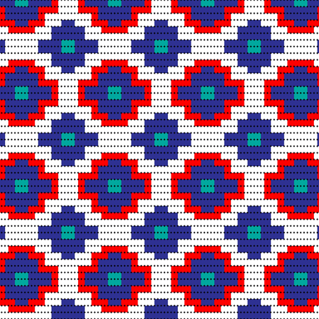 red blue bead pattern