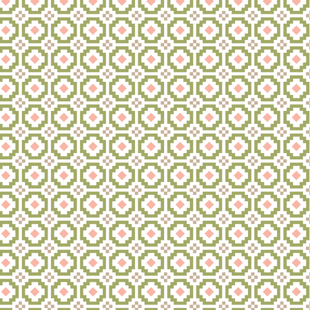 pink green geometric pattern