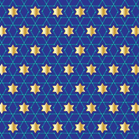 blue gold star pattern