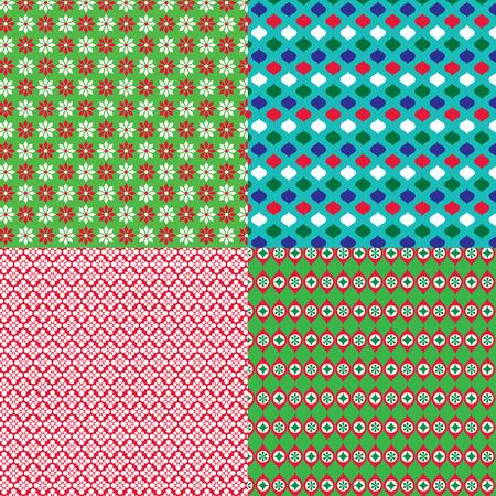 christmas geometric patterns