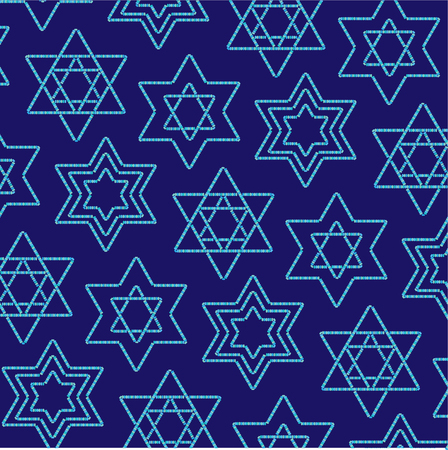 jewish star: beaded jewish star pattern