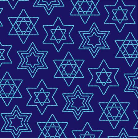 jewish star: beaded jewish star pattern