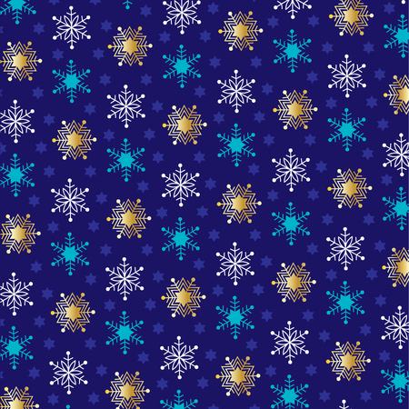 jewish: snowflake Jewish stars Stock Photo