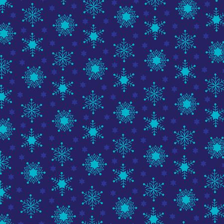turquoise jewish star snowflakes