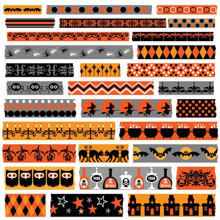 halloween clipart washi  tape Illustration