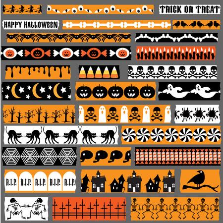 Halloween Washi Tape clipart Illustration
