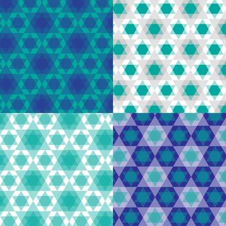 hannukah: abstract Jewish stars Illustration