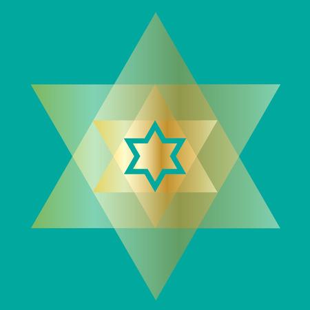 Chanukah gold Star of David