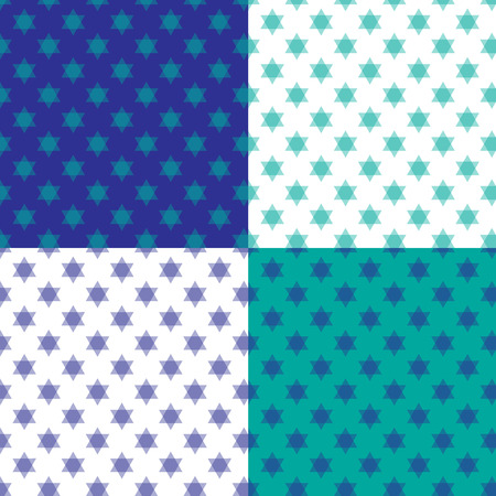 hannukah: jewish star background pattern