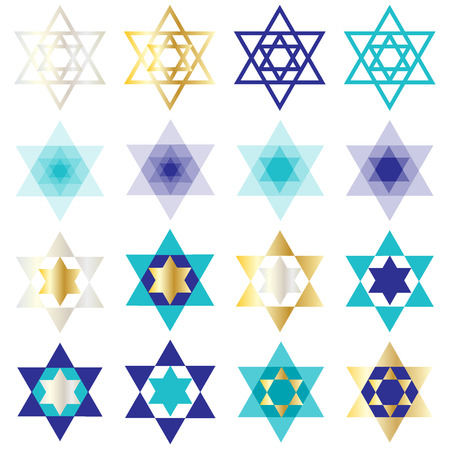 jewish star: Jewish star pattern Illustration