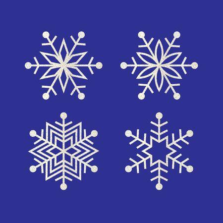 silver glitter snowflakes