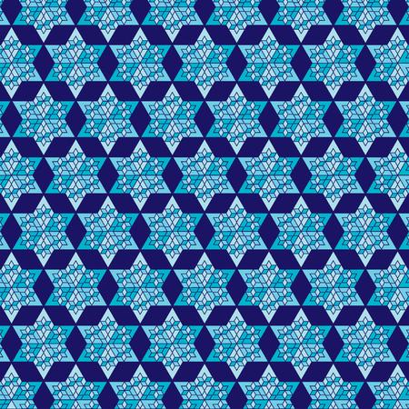 hannukah: blue star background pattern Illustration