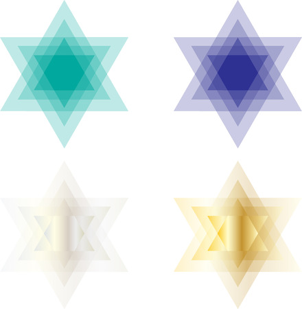 yom: transparent star of David Illustration