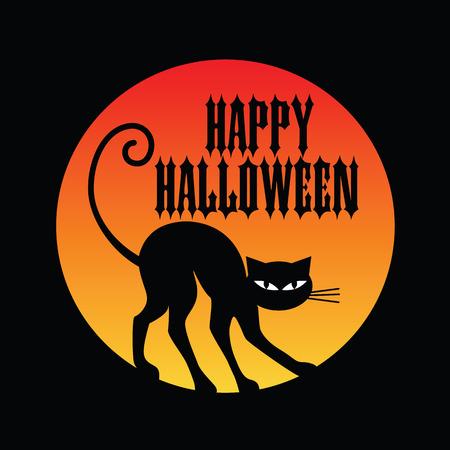 halloween black cat: halloween black cat