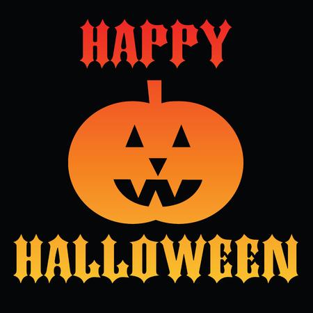 jack o' lantern: happy halloween jack o lantern Illustration