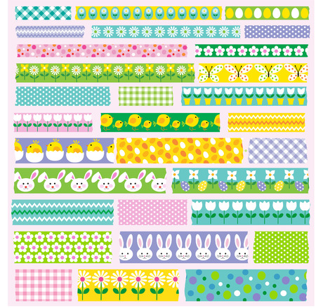 Easter washi tape clipart Stock Vector - 73270875