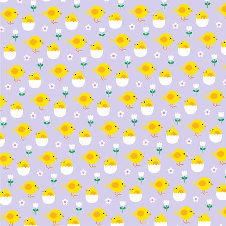 Pollitos y huevos de Pascua
