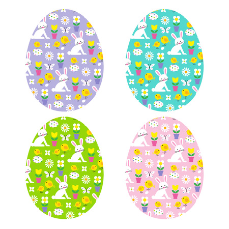 easter eggs with bunny patterns