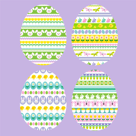 stripe: Easter eggs with stripe patterns