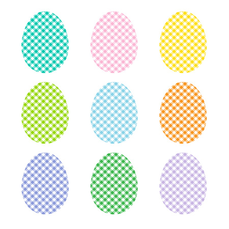 Plaid easter eggs Illustration