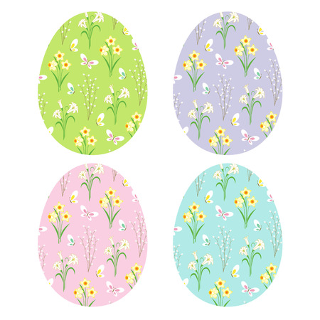Floral patterns on Easter eggs
