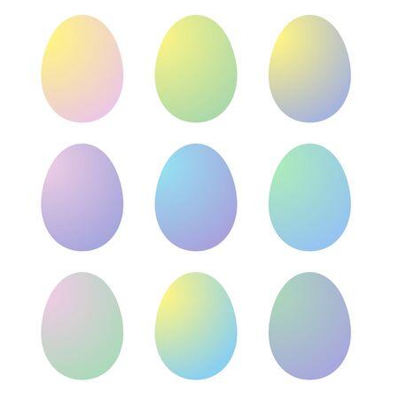 Uova di Pasqua di gradiente su colore bianco Archivio Fotografico - 73641438