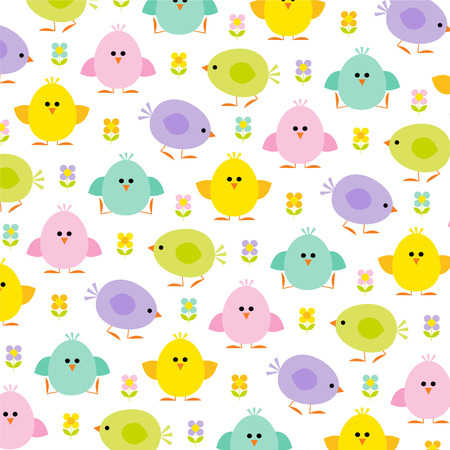 Pastel Easter chicks Illustration