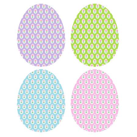 Patterned Easter eggs Stock fotó - 73959283