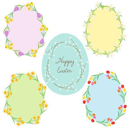 egg shaped Easter frames