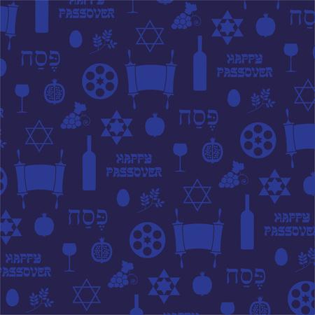 seder plate: blue passover background pattern