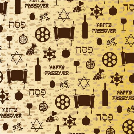 matzoh: passover pattern on matzoh background