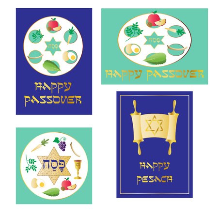 seder plate: passover graphics