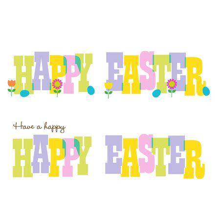 pastel happy easter typography