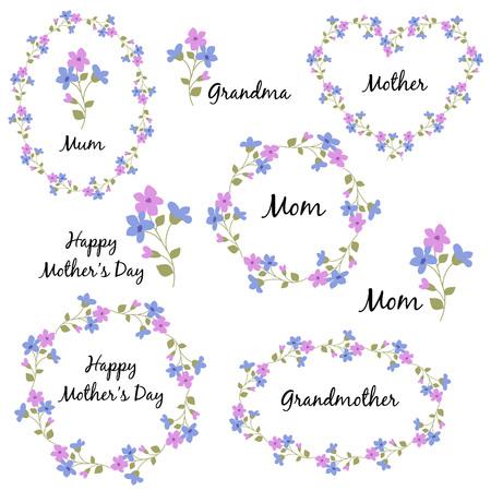 Journée des mères avec des fleurs Vecteurs
