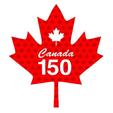 Canadian 150 maple leaf graphic Stock Illustratie