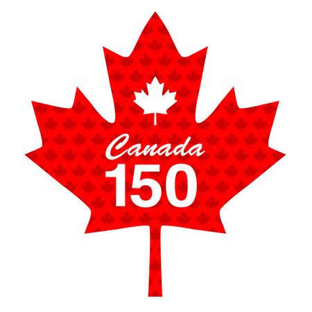 Canadian 150 maple leaf graphic Çizim