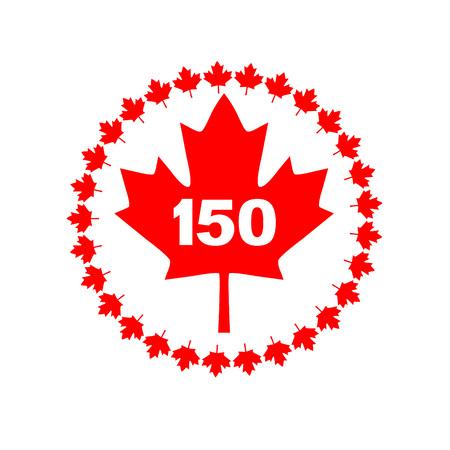 canadian flag: maple leaf 150 Canada graphic