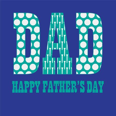golfball: Fathers day with golfball pattern