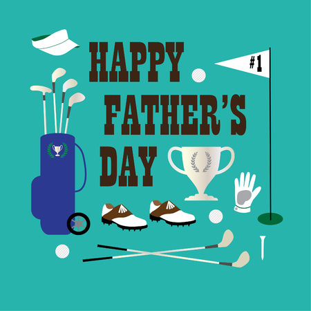 Golf happy fathers day