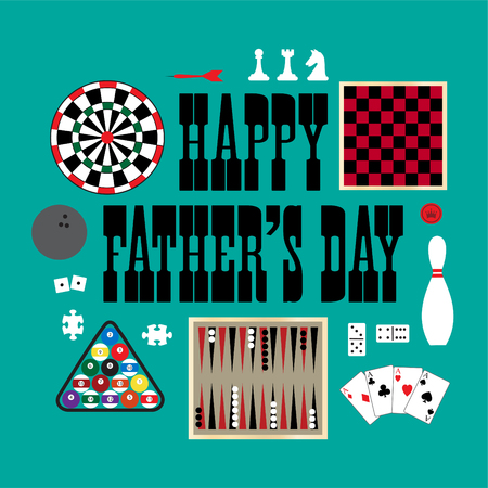 backgammon: happy fathers day games Illustration