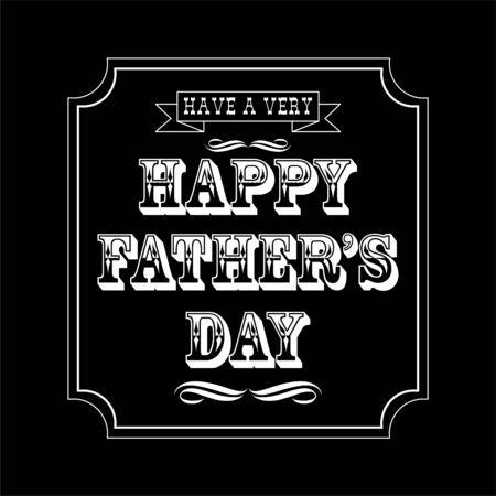 grandad: happy fathers day ornate typography black white Illustration