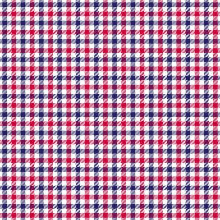 twill: red white blue check twill plaid