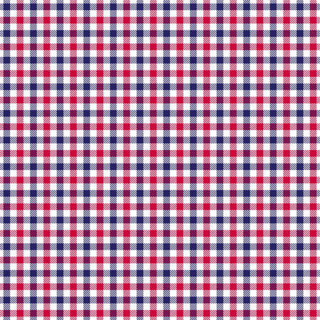 red white blue check twill plaid
