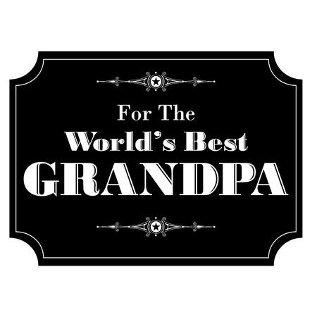 grandad: worlds best grandpa black white Illustration