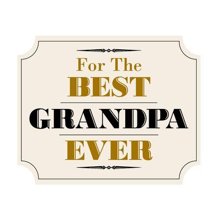 grandad: Best grandpa ever gold black
